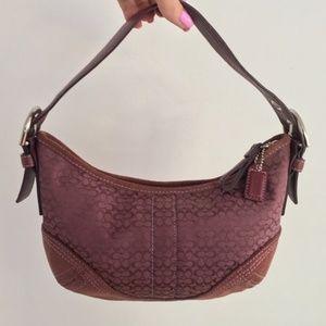 Coach Purple Small Tote/Handbag